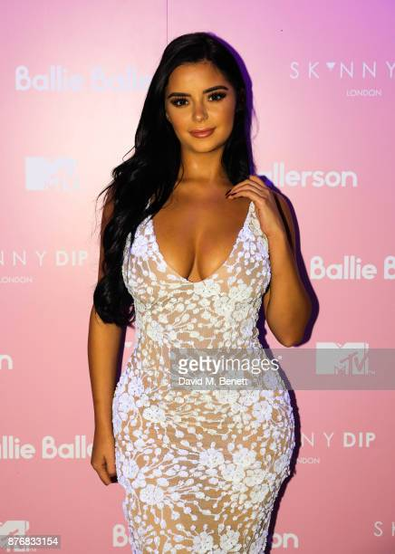 Demi Rose attends the launch of the Skinnydip x MTV collection at Ballie Ballerson on November 20 2017 in London England