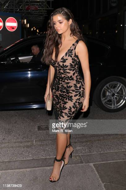 Demi Rose is seen at Ciro restaurant to celebrate her birthday on March 27 2019 in London England