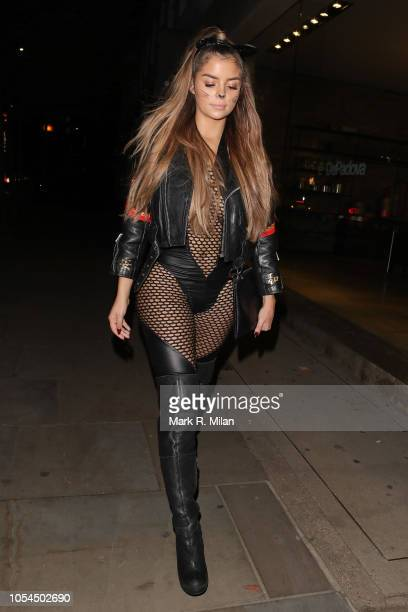 Demi Rose leaving a Halloween party at ours restaurant on October 27 2018 in London England