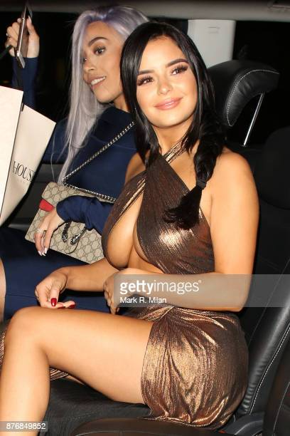 Demi Rose leaving Bob Bob Ricard on November 20 2017 in London England