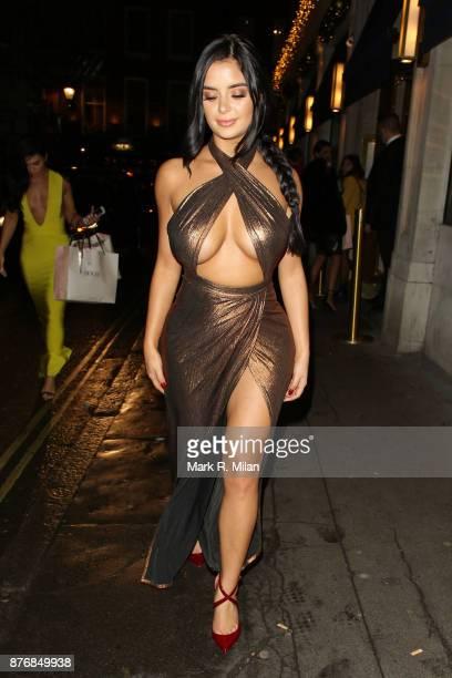 Demi Rose leaving Bob Bob Ricard on November 20 2017 in London England