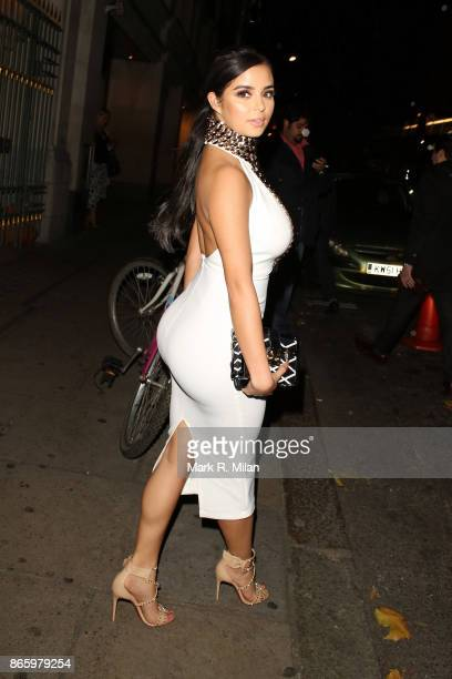 Demi Rose leaving Park Chinois restaurant on October 24 2017 in London England