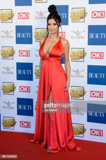 Demi Rose Mawby attends The Beauty Awards at Tower of London on November 28 2017 in London England