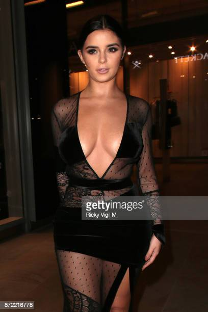 Demi Rose Mawby seen arriving at The White Forest at Madison launch party on November 9 2017 in London England