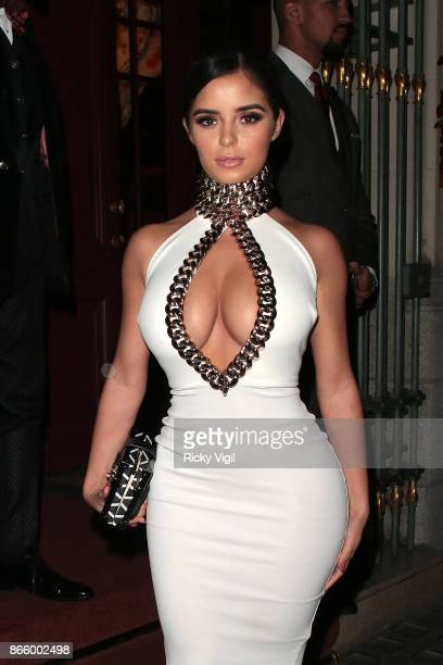 Demi Rose seen at Park Chinois restaurant on October 24 2017 in London England