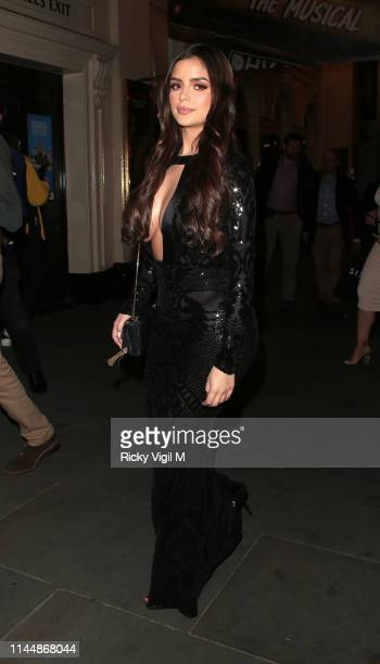Demi Rose seen attending 'For The Chosen Few' event at Farzi Cafe on April 24 2019 in London England
