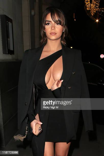 Demi Rose seen attending House of CB Christmas Party at Cafe Royal on November 14 2019 in London England