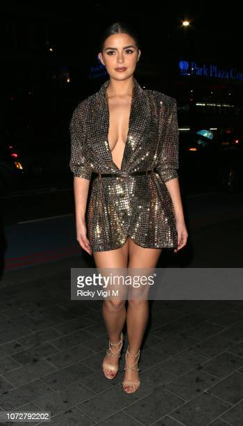 Demi Rose seen attending The Beauty Awards with OK at Park Plaza Westminster Bridge on November 26 2018 in London England