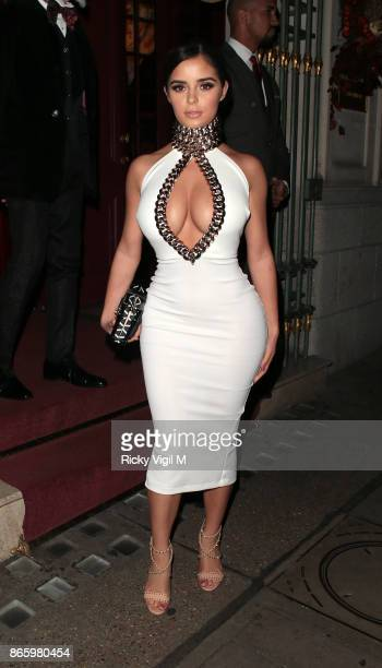 Demi Rose seen on a night out at Park Chinois restaurant on October 24 2017 in London England
