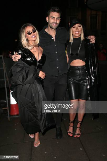 Demi Sims Adam Collard and Chloe Sims seen attending the launch of Sam Bird's new single in London's Hard Rock Hotel on March 05 2020 in London...
