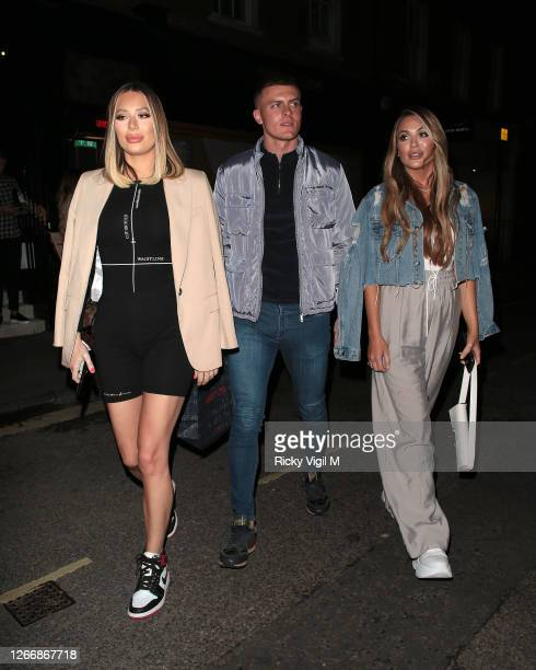 Demi Sims and Frankie Sims seen on a night out at MNKY HSE in Mayfair on August 17 2020 in London England