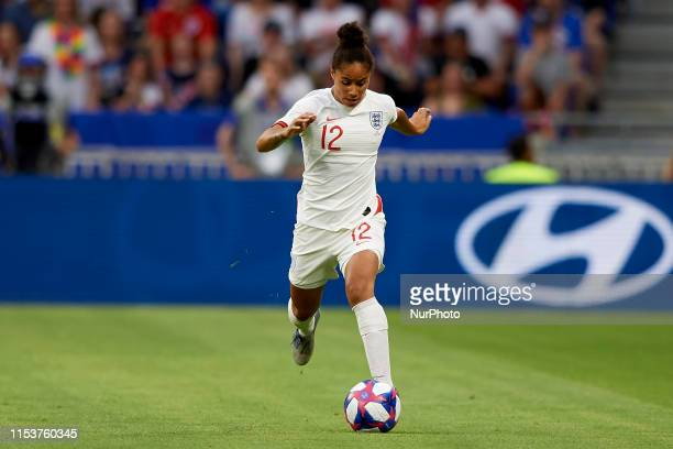 Demi Stokes of England during the 2019 FIFA Women's World Cup France Semi Final match between England and USA at Stade de Lyon on July 2 2019 in Lyon...