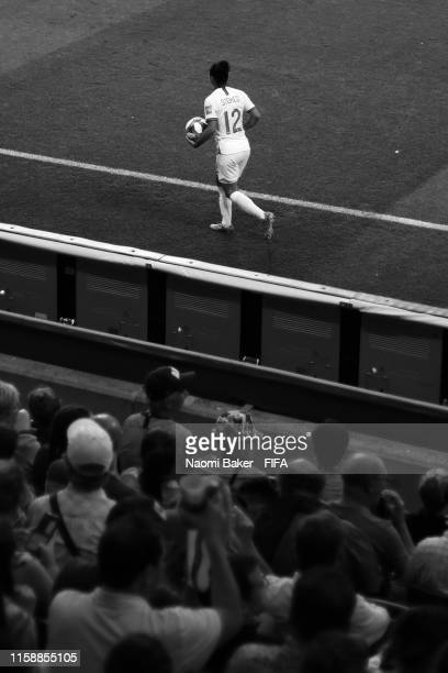 Demi Stokes of England in acction during the 2019 FIFA Women's World Cup France Quarter Final match between Norway and England at Stade Oceane on...