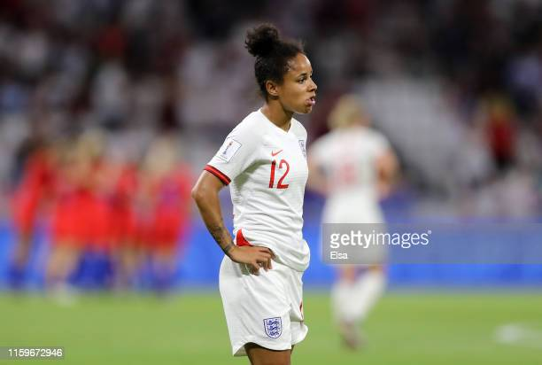 Demi Stokes of England looks dejected following her sides defeat in the 2019 FIFA Women's World Cup France Semi Final match between England and USA...