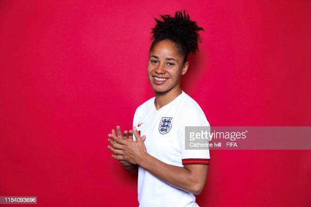Demi Stokes of England poses for a portrait during the official FIFA Women's World Cup 2019 portrait session at Radisson Blu Hotel Nice on June 06...
