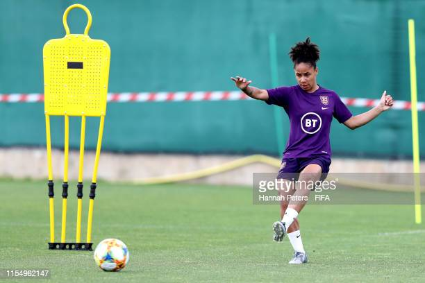 Demi Stokes of England runs through drills at Stade CharlesEhrmann on June 10 2019 in Nice France