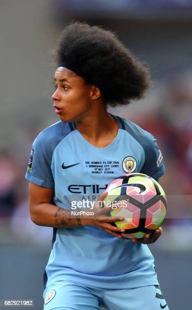 Demi Stokes of Manchester City WFC during The SSE FA Women's CupFinal match betweenBirmingham City Ladies v Manchester City women at Wembley stadium...