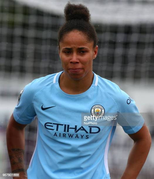 Demi Stokes of Manchester City WFC during Women's Super League 1 match between Arsenal against Manchester City Ladies at Meadow Park Borehamwood FC...
