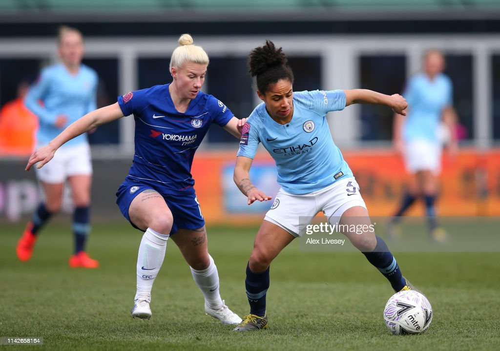 Manchester City Women v Chelsea Women - Women's FA Cup Semi Final : News Photo