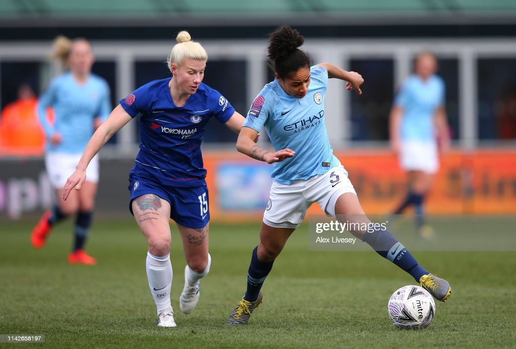 Manchester City Women v Chelsea Women - Women's FA Cup Semi Final : News Photo