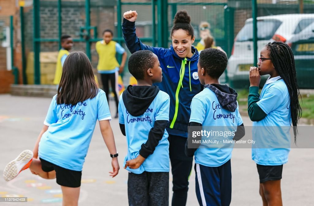 GBR: MCWFC player appearance at St Patricks R.C. Primary School