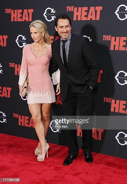 Demian Bichir and Stefanie Sherk attend The Heat New York Premiere at Ziegfeld Theatre on June 23 2013 in New York City