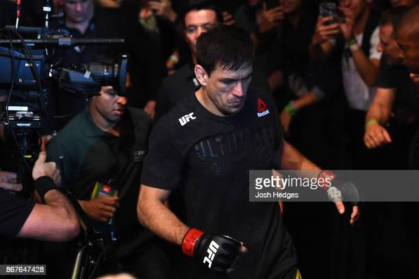 Demian Maia of Brazil enters the arena before facing Colby Covington in their welterweight bout during the UFC Fight Night event inside the...