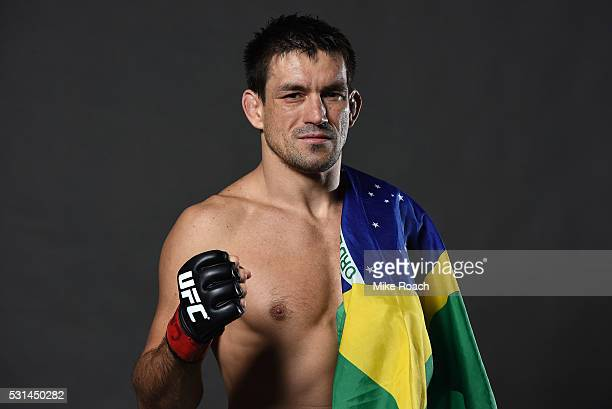 Demian Maia of Brazil poses for a portrait backstage during the UFC 198 event at Arena da Baixada stadium on May 14 2016 in Curitiba Parana Brazil