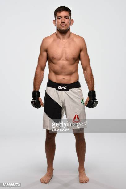 Demian Maia of Brazil poses for a portrait during a UFC photo session on July 26 2017 in Cerritos California