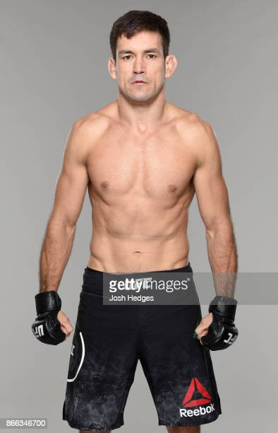 Demian Maia of Brazil poses for a portrait during a UFC photo session on October 25 2017 in Sao Paulo Brazil