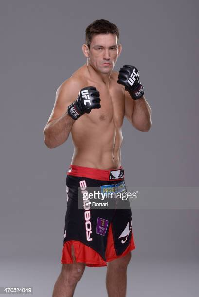 Demian Maia poses for a portrait during a UFC photo session on February 19 2014 in Las Vegas Nevada