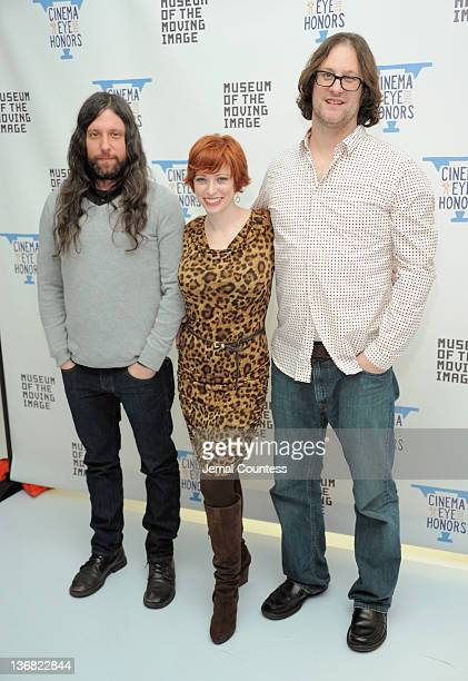 Demien Fenton Sheena Joyce and Don Argott attends the 5th Annual Cinema Eye Honors for Nonfiction Filmmaking at the Museum of the Moving Image on...