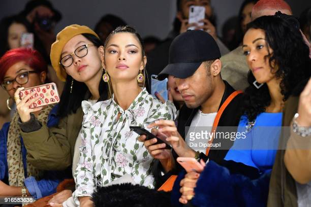 DemiLeigh NelPeters and Kara McCullough attend the Dan Liu fashion show during New York Fashion Week The Shows at Gallery II at Spring Studios on...