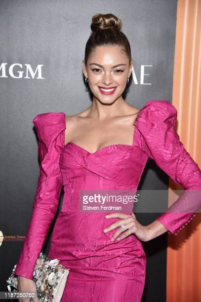 Demi-Leigh Nel-Peters attends the Africa Outreach Project Fundraiser hosted by Charlize Theron at The Africa Center on November 12, 2019 in New York...