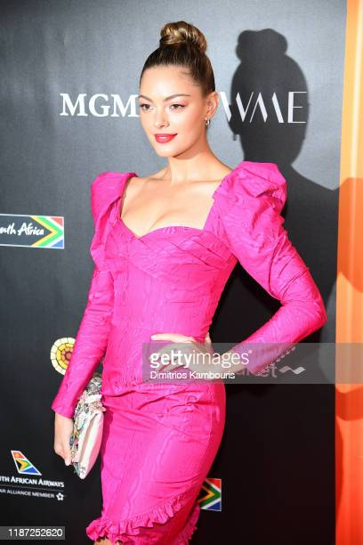 Demi-Leigh Nel-Peters attends The Charlize Theron Africa Outreach Project fundraising event at The Africa Center on November 12, 2019 in New York...