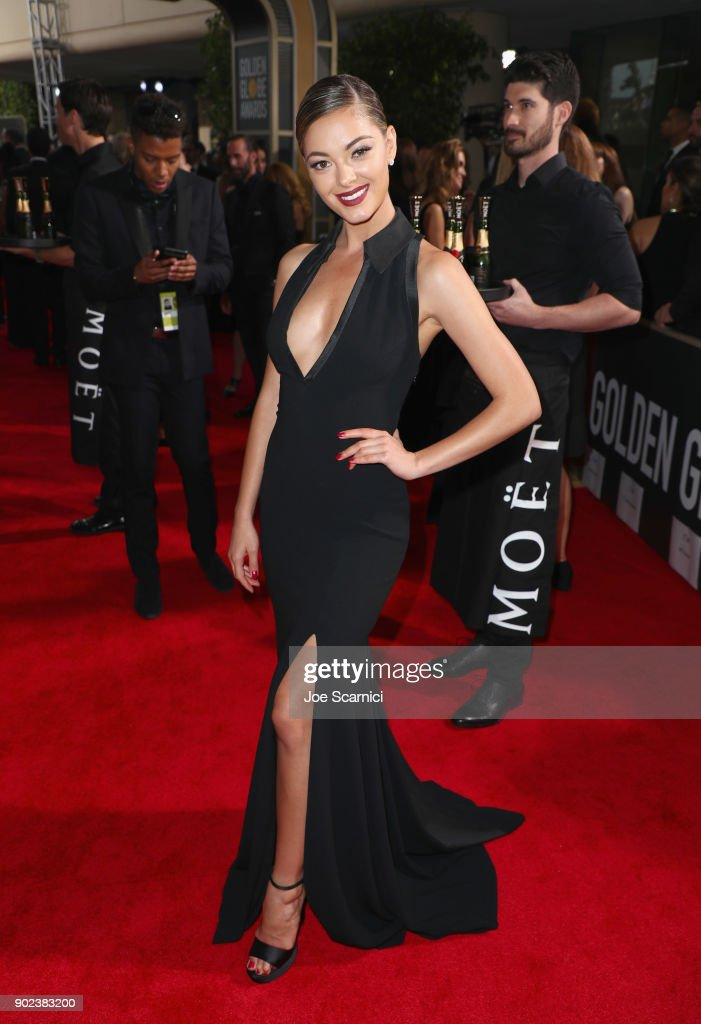 Demi-Leigh Nel-Peters celebrates The 75th Annual Golden Globe Awards with Moet & Chandon at The Beverly Hilton Hotel on January 7, 2018 in Beverly Hills, California.