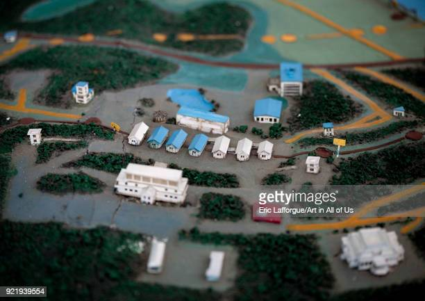 Demilitarized Zone mock-up model, North Hwanghae Province, Panmunjom, North Korea on April 21, 2008 in Panmunjom, North Korea.