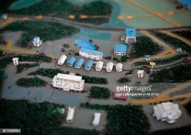Demilitarized Zone mockup model North Hwanghae Province Panmunjom North Korea on April 21 2008 in Panmunjom North Korea