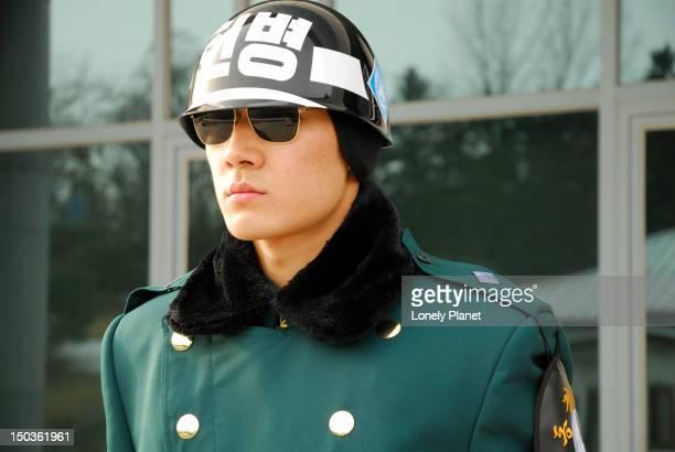DMZ. Demilitarized Zone, South Korean Guard.