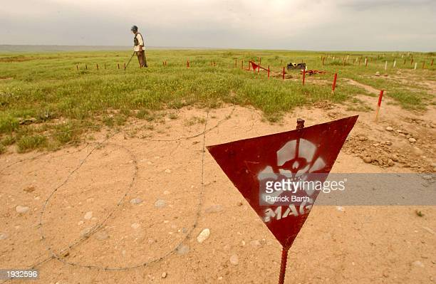 Demining operations are taking place by the Mines Advisory Group April 15 2003 in Kirkuk northern Iraq Demining operations are taking place along the...