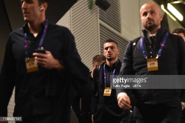 Demiral of Juventus arrives prior to the UEFA Champions League group D match between Juventus and Atletico Madrid at Allianz Stadium on November 26...