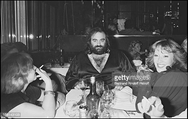 Demis Roussos during a party at Elysee Matignon night club in Paris In 1977