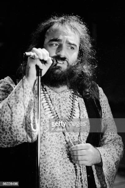 Demis Roussos, Greek singer. Rehearsals at the Olympia. Paris, October, 1972.