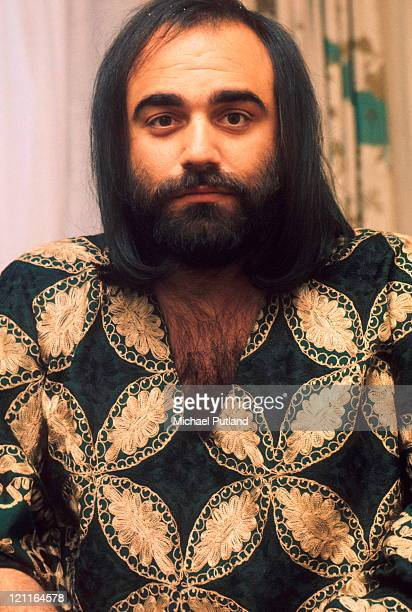 Demis Roussos portrait London 12th March 1974