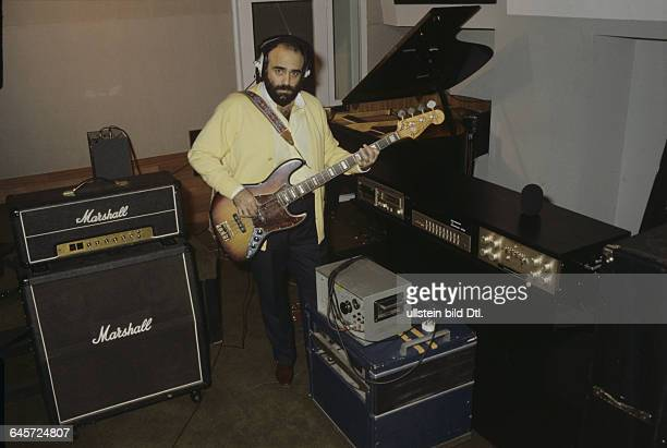Demis Roussos Singer Greece in his house in London