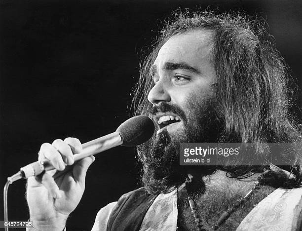 Demis Roussos Singer Greeceappearing in German television show 'Pop 73'