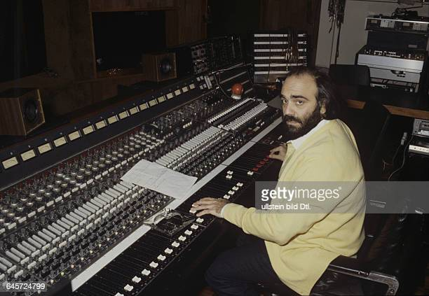 Demis Roussos Singer Greecein his house in London