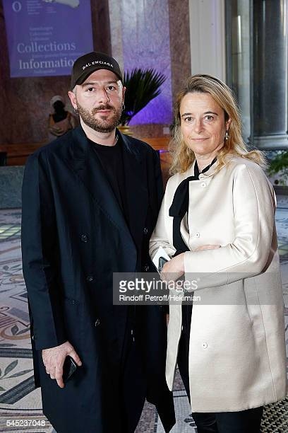 Demlna Gvasalia and Isabelle Guichot attend the Soiree Haute Couture as part of Paris Fashion Week at Le Petit Palais on July 6 2016 in Paris France