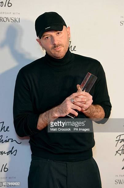 Demna Gvasalia attending The Fashion Awards 2016 at the Royal Albert Hall London PRESS ASSOCIATION Photo Picture date Tuesday December 6th 2016 Photo...