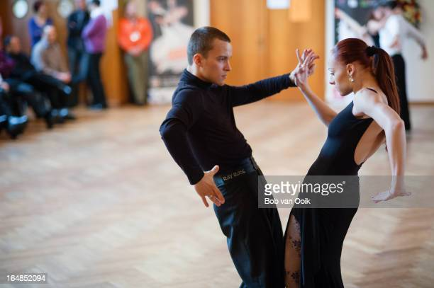 CONTENT] Demo couple Nikita Bazev Marta Arndt dancing Paso Doble at the yearly Dance Seminar in Enzklosterle Germany